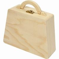 houten tasje met naam ingebrand