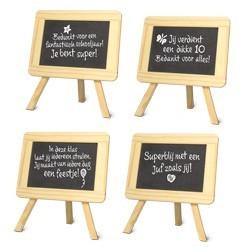 houten schoolbordje met naam (niet voor B2b)